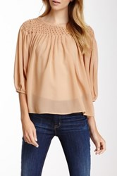 Kas Trudy Long Sleeve Blouse Beige