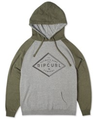 Rip Curl Leveled Out Graphic Print Logo Raglan Sleeve Hoodie Black