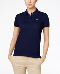Lacoste Two Button Classic Fit Polo Navy