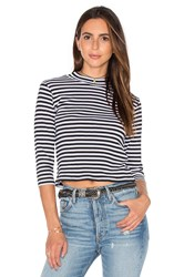 Obey Coastal Mock Neck Top Black And White