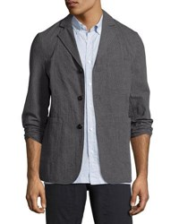 Billy Reid Luther Seersucker Blazer Jacket Charcoal