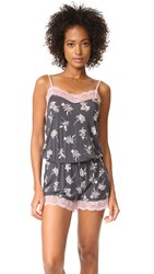 Pj Salvage Floral Seduction Romper Smoke