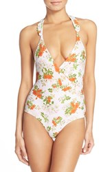 Women's Lolli Swim Ruffle Straps One Piece Swimsuit