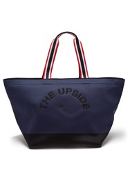 The Upside Logo Embroidered Neoprene Tote Navy