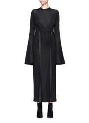 Ellery 'Gasp' Flute Sleeve Ponte Knit Dress Black