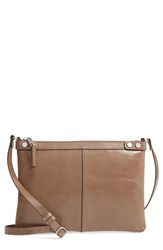 Treasure And Bond Marlow Glazed Leather Crossbody Bag Beige Beige Biscuit