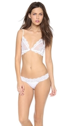 Only Hearts Club So Fine Lace Bralette White
