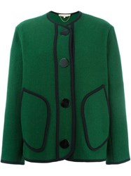 Vanessa Bruno Contrast Stitching Oversized Jacket Green