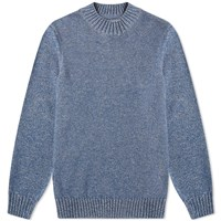 Barbour Rothay Crew Knit Japan Collection Blue