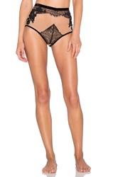 For Love And Lemons Flower Blossom Hi Waist Panty Black