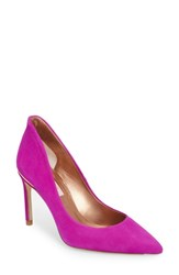 Ted Baker London Savio Pointy Toe Pump Fuchsia Suede