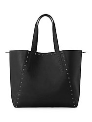 Liebeskind Reversible Camo Leather Tote Black