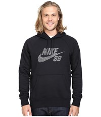 Nike Sb Icon Dots Pullover Hoodie Black White Men's Sweatshirt