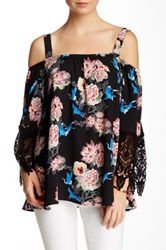 Voom By Joy Han Lyla Open Shoulder Blouse Black