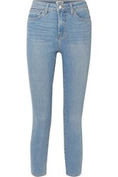 L'agence Margot Cropped High Rise Stretch Skinny Jeans Mid Denim
