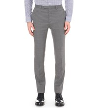 Hardy Amies Heddon Fit Straight Wool Trousers Grey