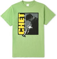 Noon Goons Chet Baker Printed Cotton Jersey T Shirt Green