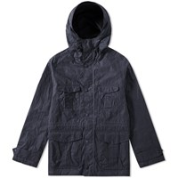 Barbour Hoy Wax Jacket Blue