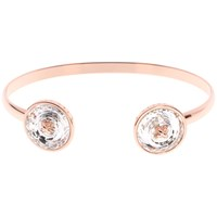 Ted Baker Katrina Swarovski Crystal Double Button Cuff Rose Gold