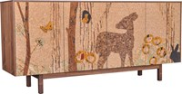 Iannone Design Cork Forest Mosaic Sideboard Long Multicolor