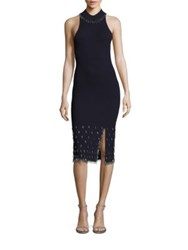 Jonathan Simkhai Beaded Knit Racerback Dress Blue