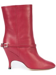 Alchimia Di Ballin Buckle Detail Boots Women Leather 36.5 Red