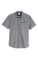 7 Diamonds The Crunch Slim Fit Short Sleeve Sport Shirt Graphite