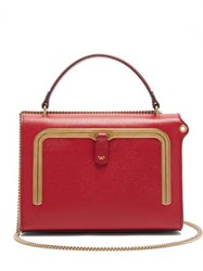 Anya Hindmarch Postbox Small Grained Leather Cross Body Bag Red