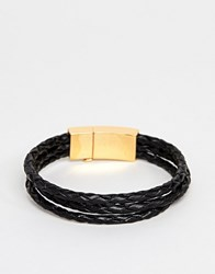 Vitaly Tether Bracelet In Gold And Black