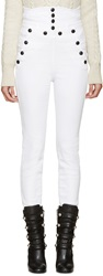 Isabel Marant White High Waisted Brandebourg Nepos Jeans