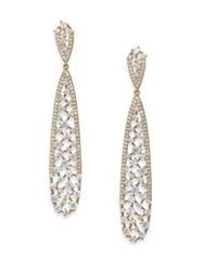 Adriana Orsini Frozen Long Teardrop Earrings Goldtone