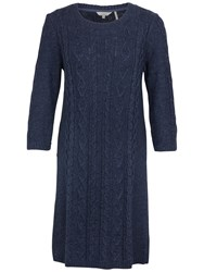 Fat Face Thea Knitted Dress Navy