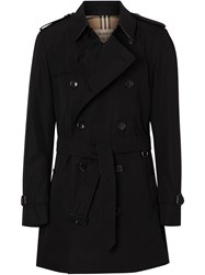 Burberry Short Chelsea Fit Trench Coat Black