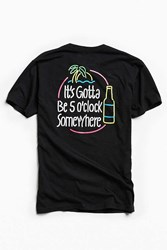 Urban Outfitters Riot Society 5 O'clock Tee Black
