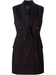 Alexander Wang Double Breasted Waistcoat Black