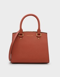 Charles And Keith Classic Structured Handbag Brick