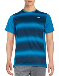 New Balance Accelerate Graphic Tee Blue