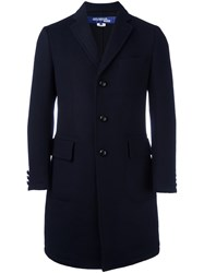 Junya Watanabe Comme Des Garcons Man Single Breasted Coat Blue