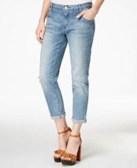 Jessica Simpson Monroe Cropped Light Wash Boyfriend Jeans Eden Eden W Destruction
