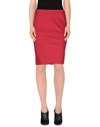 Alviero Martini 1A Classe Knee Length Skirts Garnet