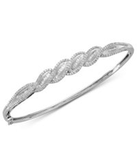 Wrapped In Love Diamond Twist Bangle In Sterling Silver 1 Ct. T.W.