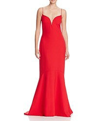 Nicole Miller Poppy Sweetheart Gown Lipstick Red