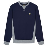 Lyle And Scott Contrast Rib Crew Neck Sweatshirt Navy