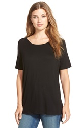 Cj By Cookie Johnson Raglan Sleeve Tee Black Jm
