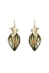 Alexis Bittar Gold Plated Earrings With Lucite