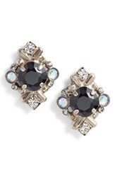 Sorrelli Shielded Crystal Stud Earrings Black