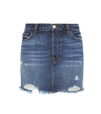 J Brand Bonny Denim Skirt Blue