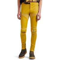 Undercover Leather Skinny Moto Trousers Yellow