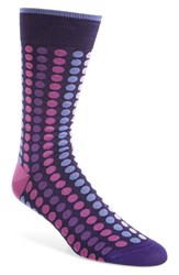 Bugatchi Men's Dot Socks Orchid