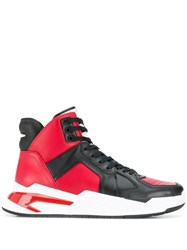 Balmain B Ball High Top Sneakers Red